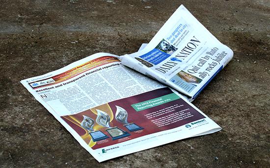 Half page newspaper advertisement for Bamburi Cement