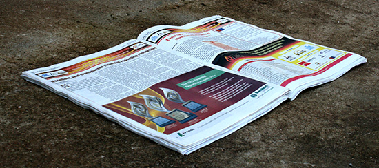 Newspaper advertisement design for bamburi Cement