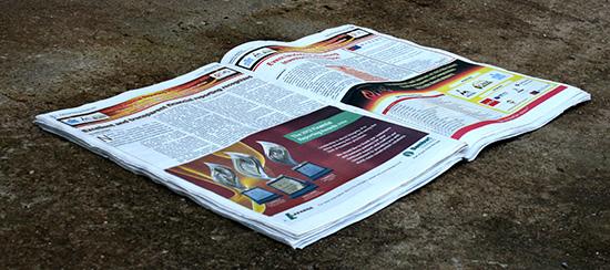 Newspaper advertisement design for bamburi Cement