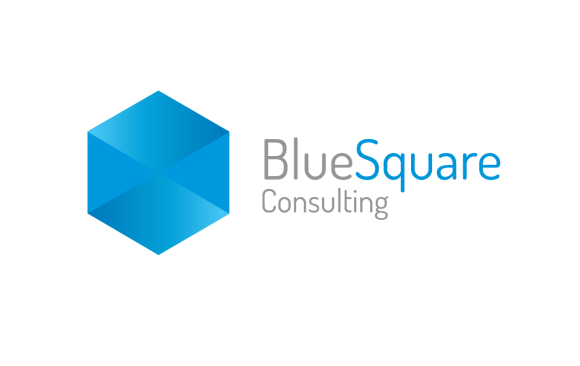 Blue Square Logo Design