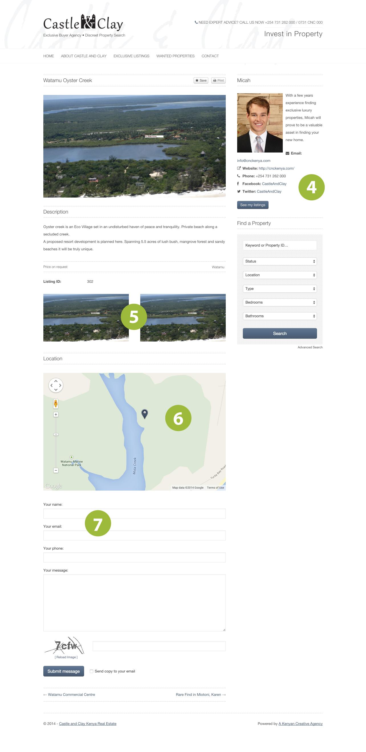 Cnc Kenya website inner page