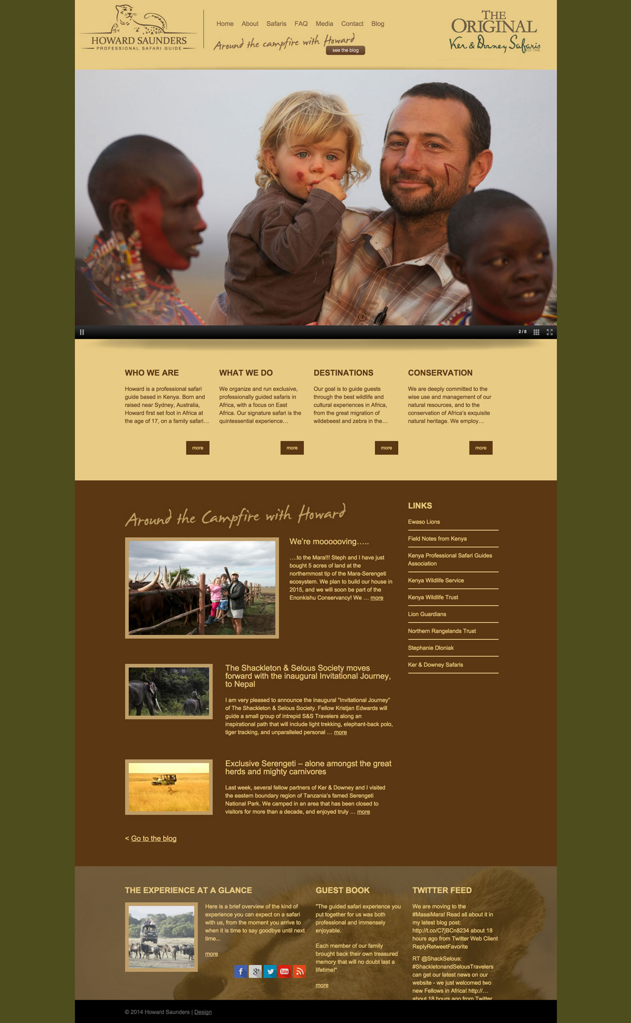 Howard Saunders Safaris - Welcome to the website of Howard Saunders, professional safari guide.