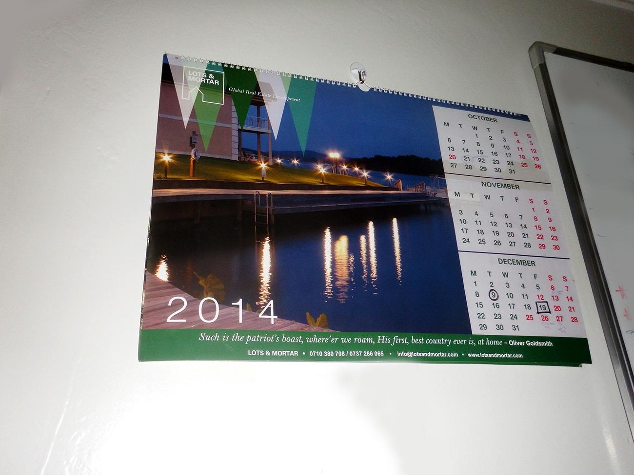 Lots and Mortar 2014 calendar