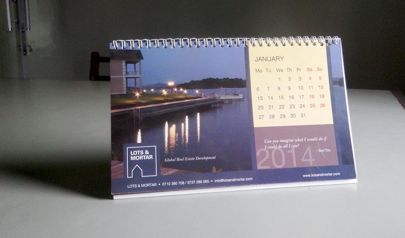 Lots and Mortar 2014 desktop calendar