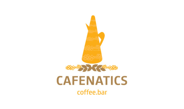 Cafenatics Logo design