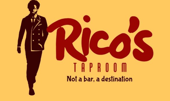 Rico's Taproom Logo design
