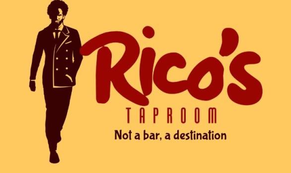 Rico's Taproom Logo design